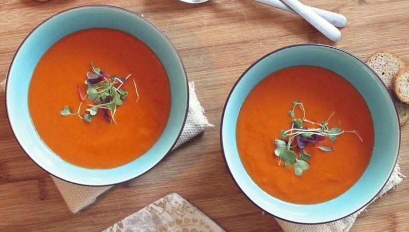 Endometriózis diéta recept- nyers vegán répa-tök leves