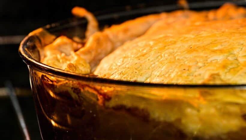 Endometriózis diéta recept- vegán pásztor pite